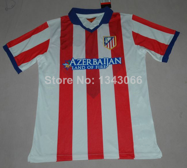 Best quality 2014 Atletico Madrid JERSEY Home 14 15 Diego Costa DAVID VILLA KOKE ARDA Raul Garcia SIMEONE Sportswear(China (Mainland))