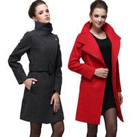 New Winter Wool Coat Outwear Women Long Jacket Extra Large size US size Coats 5 colors