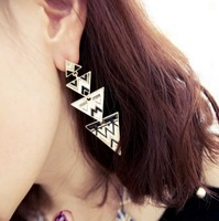 New  2014 Hot fashion new  punk fashion triangle  earrings t for Women, Vintage Big long Earring Jewelry!