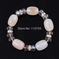 Fashion Natural Crystal Beads bracelet with Elastic Women Bracelets multi-design charming bracelet
