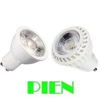 7W COB GU10 led bulb light AC85~265V White/Warm white Ceramic Spot Light Lamp 700LM Free shipping 5pcs/lot
