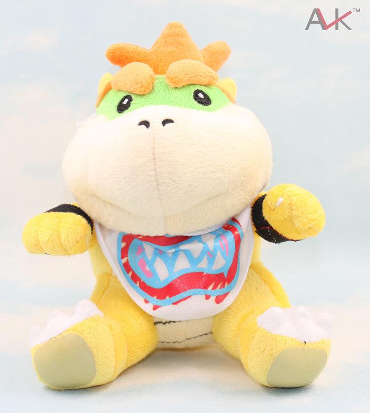 "10pcs/Lot New Super Mario Brothers Bowser JR Plush Doll 8"" Wholesale,Kids Birthday Toys,Kids Gift(China (Mainland))"