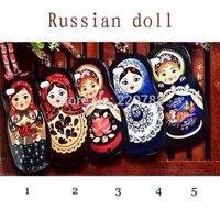 Russian Doll Black Handbag Chain CaseFor iPhone 5 5S