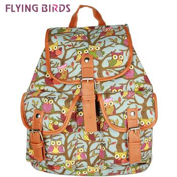 Летящие птицы ! 2014 новый Этническая сумки стиль сова Pattern Женщины Рюкзаки школьные сумки Рюкзак мужские Дорожные сумки LS3566