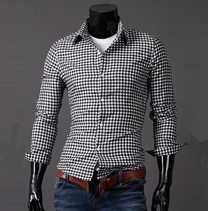 новые моды Мужские рубашки, классическое Цветной