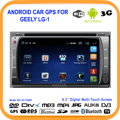 New Arrival Pure Android Car DVD For GEELY LG-1 GPS Navi Andriod 4.4 Radio For PANDA 3g WiFi RDS TV USB SD(China (Mainland))