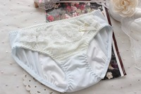 free shipping high quality girl lady women cotton lace menstrual period sanitary panties mid  waist