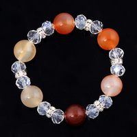 Fashion Natural Crystal Beads bracelet with Elastic Women Bracelets multi-design charming bracelet Best Wishes 2014