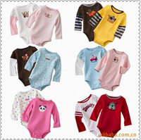 2014 Baby Romper long sleeve 5pcs/pack Boutique Triangle climbing Clothes Character Jumpsuits Cotton Toddler Jumpsuit Infant