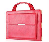 New Arrival Travel Handbag Wallet Design Leather Case Bag For Apple iPad mini 2/1 with Smart Dormancy