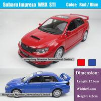1:36 Scale Alloy Diecast Car Model For SUBARU Impreza WRX STI Collection Model Pull Back Car Toys - Red / Blue