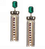 New Fashion Punk chain tassel gem earrings  Gift for Women, Vintage Big long Earring Jewelry!