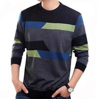 Men's clothing o-neck loose sweater fashion basic shirt male sweater