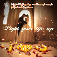 romantic Wedding Candle Gift LEDS Flameless Tealight Candles Turn on/off candles Yellow Flickering Blink candles
