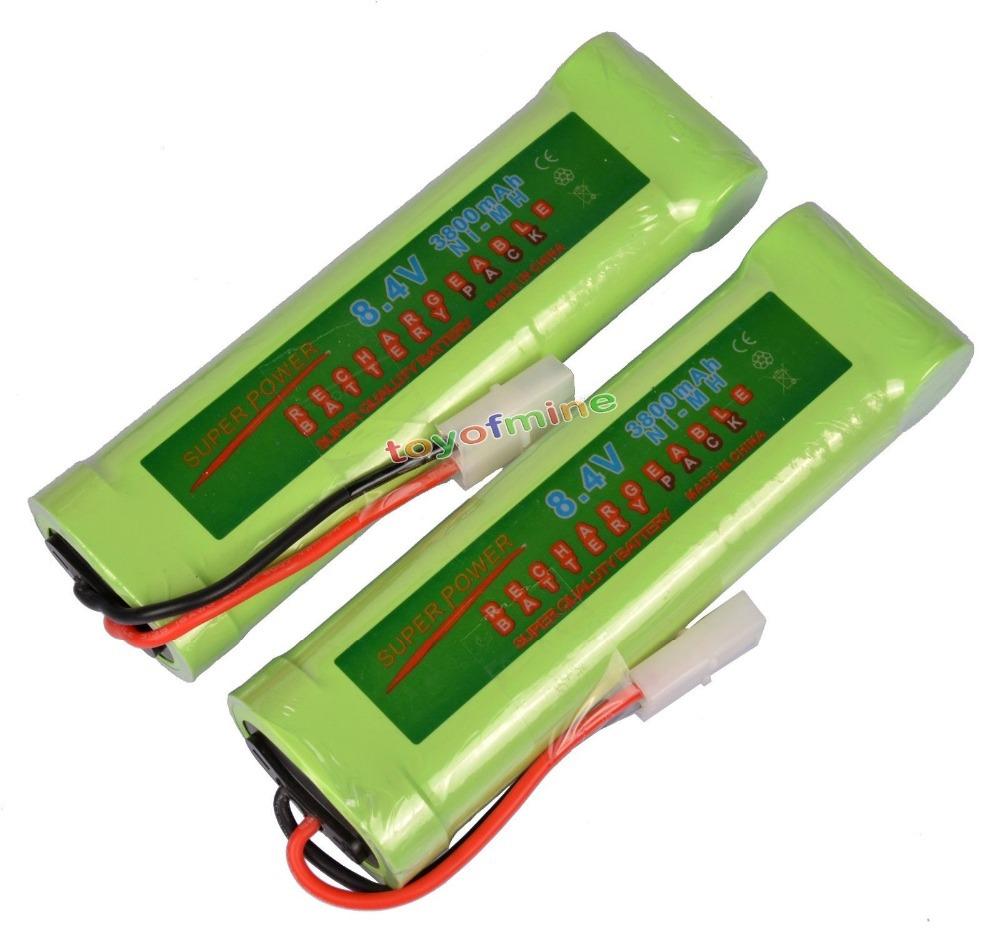 2 Super Power NiMH 8.4V 3800mAh Rechargeable Battery Cell Pack Car Tamiya Plug(China (Mainland))