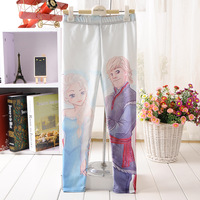 2014 HOT fashion baby girl pants Children's Frozen Printed Leggings kids clothing free shipping Hot sales S,M,L,XL Plus Size