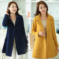 2014 spring women's loose medium-long cloak thin woolen outerwear woolen overcoat spring and autumn