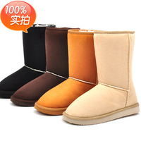 2014 new fashion female lady female warm snow boots women boots and women's autumn winter shoes middle high