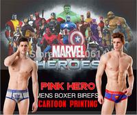 2014 new style, Brand Cartoon Men underwear, Men's Boxer,Knickers, Panties, Pants,Boxer shorts, 12pcs/lot Cotton men's Underwear