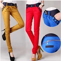 Women Pants 2014 New Fashion Two Zippers Slim Fit Casual Harem Pants , Women Trousers