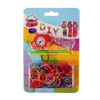 Free shipping fashion DIY loom bands watch and bracelet kit 100pcs/lot