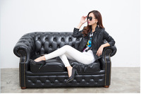 Hot sell brand korean women genuine leather motorcycle jacket women Slim-fitting genuine leather jacket coat  free shipping S-L