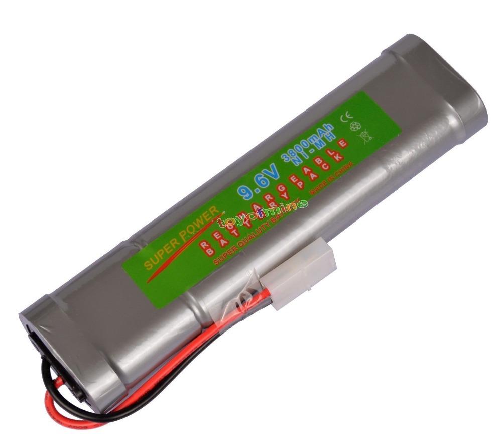 1x 9.6V NiMH 3800mAh Super Power Rechargeable Battery Pack Car Tamiya Plug(China (Mainland))