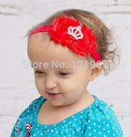 Free Shipping Princess Shabby Crown Headband