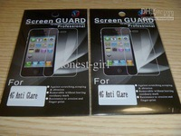 Wholesale - 30pcs anti-glare screen protector for 4 4G LCD cover for cell phone