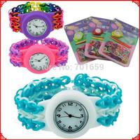 DIY loom bands watch and bracelet kit 200pcs/lot