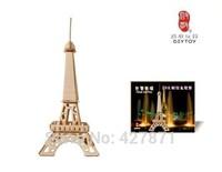 Chinese toy manufacturer 3d diy building puzzle game/Custom cubic fun 3d puzzle/world architecture 3d puzzle/eiffel tower puzzle