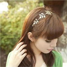 CamiTrustworthyTrustworthyGold Olive Leaves Leaf Stretchy Hair Head Band Grecian Style Trendy TrendingCami