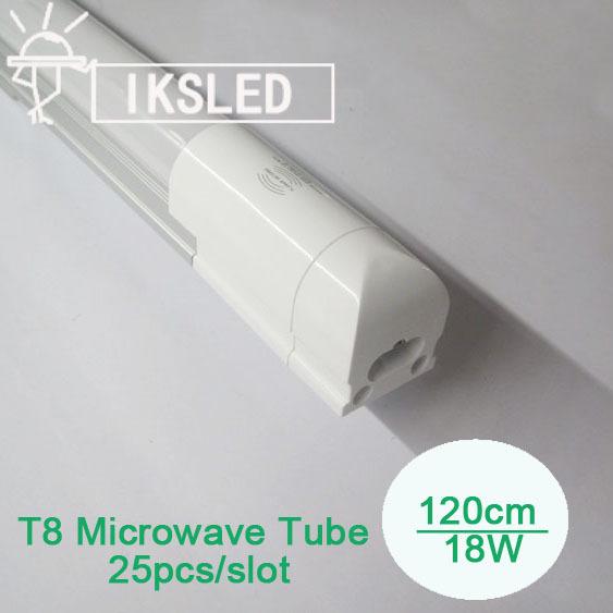 Microwave Sensor T8 tube 1200mm SMD2835 96pcs T8 integrated tube led for car park garage 25pcs/lot cheap price free shipping(China (Mainland))