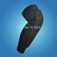 Free shipping Knee Pad strong Honeycomb Crashproof BasketBall Protective Gear Long Leg Sleeves