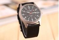 50pcs/lot 2014 New SOKI Brand Men Military Quartz watch Fashion knitting Canvas  Watches Sports Wristwatches Casual Reloj