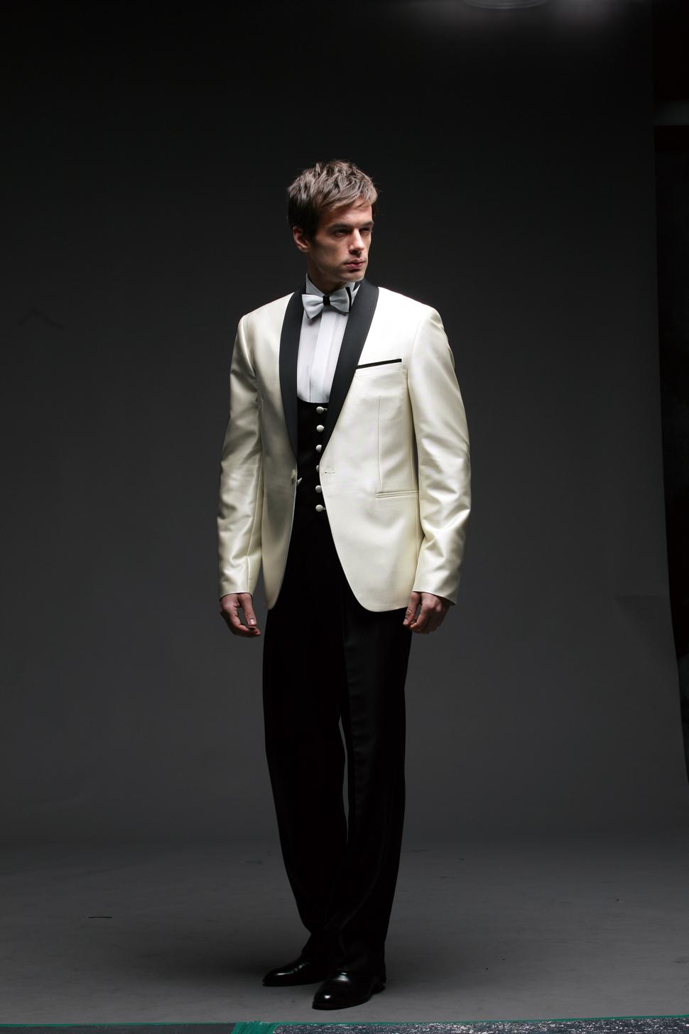 Old Fashioned White Prom Tuxedos Ornament - Wedding Dress Ideas ...