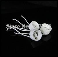 Freeshipping 20pcs/lot GU10 lamp holder socket base adapter Wire Connector Ceramic Socket for LED Halogen Light