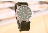 2014 New SOKI Brand Men Military Quartz watch Fashion knitting Canvas Sports Wristwatches Casual Reloj Watch