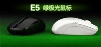 2014 New MITU E5 Wireless Mouse 2.4G Optical 10M Wireless Mouse Notebook Laptop/Desktop PC Green LED Light  Free Shipping