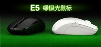 2014 New MITU E5 Wireless Mouse 2.4G Optical 10M Wireless Mouse Notebook Laptop/Desktop PC Green LED Light  Free Shipping