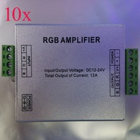 10pcs/lot,12V/24V 12A LED RGB Amplifier Controller Signal Amplifier for 3528/5050 SMD RGB LED Strip 9086886