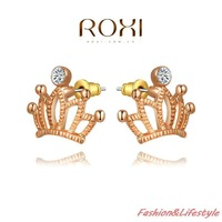 ROXI fashion new arrival,Crown earrings,China's wind,women trendy earrings Chrismas /Birthday gift