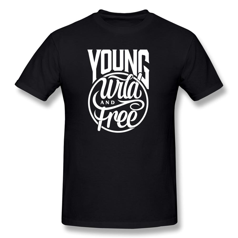 1pcs Free Shipping Slim Fit Men T Shirt Young Wild and Free Customize Logo T Shirts Men Short-Sleeve(China (Mainland))