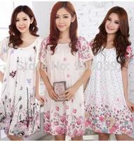 Hot Sale  New  Summer Plus Size  Sleepwear  Women's  Sleepshirts Cotton  Free  Shipping  5  Color