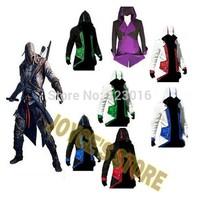 Assassins Creed 3 III Conner Kenway Men's Hoodies tracksuit sportwear sweatshirt   Coat Jacket  Cosplay  Costume