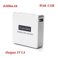 1pc Power Bank 8400mah Output 5V 1A Including 1* USB Cable for Samsung for iphone for Smartphone