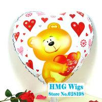 "Cute Bear Balloon Birthday Party Decoration bear Love balloon Kids Cartoon Balloons Gift  10pcs/lot  18"""
