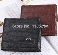 Free shipping 2014new stylish Mens genuine cow Leather Wallet Pockets Card Clutch Cente Bifold Purse,drop shipping W-B149