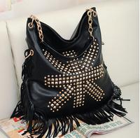 VEEVAN 2014 new Celebrity Tassel pu leather Fringe Shoulder bag women Messenger bag Handbag Cross Body Bag