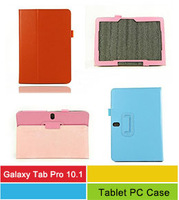 Folding Stand Pu Leather Case Tablet Cover For Samsung Galaxy Tab Pro 10.1 T520/T525 Back Book Cases Skin